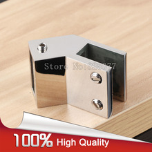 2PCS 135 Degree shower room bathroom glass door top fixed clip for 10*30 square tube hardware accessories JF1219
