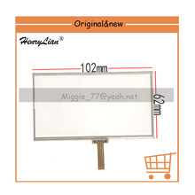 HENRYLIAN 4.3inch LM43FY07 for newman a45hd a43hd a40hd screen touch 101X62mm Resistive touch screen(pls note black or white)(China)