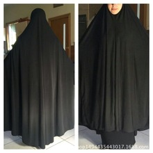 Muslim Women Black Cover Abaya Islamic Khimar Clothes Headscarf Robe Kimono Instant Long Hijab Arab Worship Prayer Garment