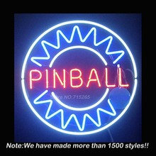 Play Pinball Here Game Room Neon Sign  Bulbs Store Display Real Glass Tube Quality Guarantee Handcraft Fashion Gifts 24x20 VD