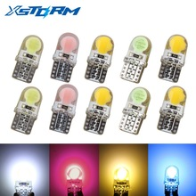 10Pcs Car Led Bulbs T10 194 168 W5W COB 8 SMD LED Silica Bright White License Light Bulb White/Amber/Pink/Ice blue 12V