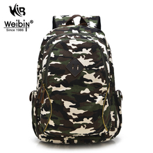 Weibin Mens Backpacks Women Shoulder Bag Canvas Printing Backpack School Bags For Teenage Boys Camouflage Rucksack Back Pack