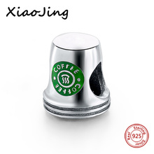 New arrival coffee cup charms beads 100% 925 Sterling Silver Bead Fit Original pandora Bracelets beads Jewelry Making women Gift(China)