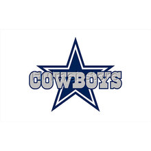 dallas cowboys flag with white background blue star 90x150cm custom cowboys flag banner(China)