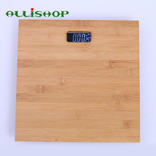 ALLiSHOP Wood 180KG  bathroom scales 33cm*33cm smart led digital floor balance weighing-machine body Household weight Scale