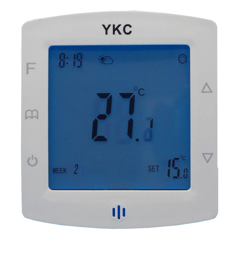 Double sensor hot water radiant heating systems Thermostat with 2 line or 3 line valve control<br>