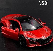 High simulation Honda NSX supercars,1:36 alloy pull back car models,metal diecasts,2 open door,toy vehicles,free shipping