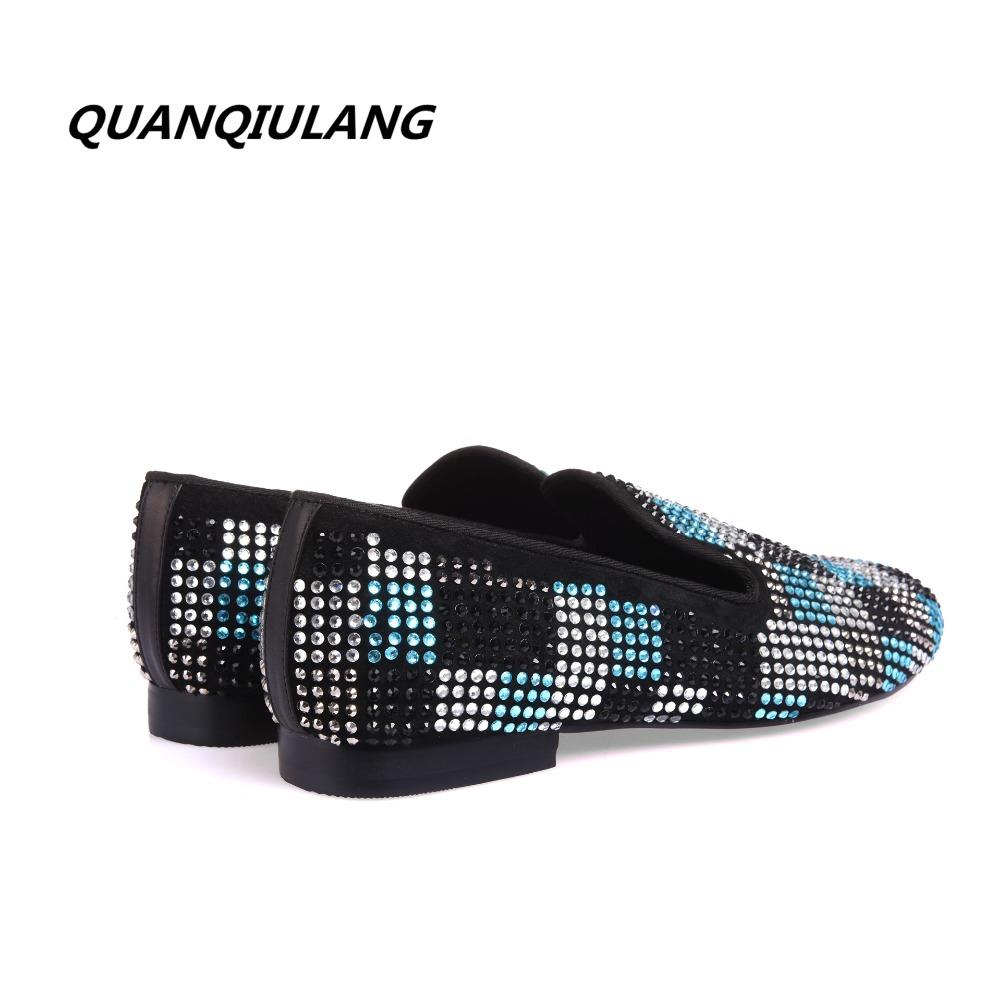 Pilkupüüdvate kristallidega lehmanahast kingad meestele