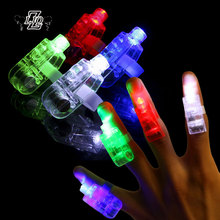 ZLJQ 4pcs LED Finger Light Laser Luminous Beams Ring Wedding Celebration Festival Birthday Party Decor Children's Day Gift Toys(China)