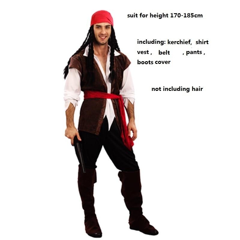 Unisex Leather Look Pirate Hat /& Hair Fancy Dress Caribbean Jack Sparrow Ladies