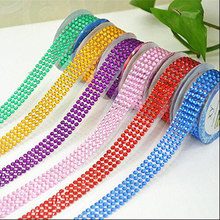 Crystal Colorful Acrylic Rhinestone Sticker Self-Adhesive Stick On Tape DIY Stickers for Scrapbooking Decoration Arts Supplies