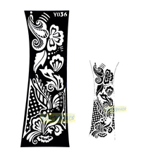 1pc Hot Fashion Henna Glitter Personalizer Style Template Temporary Nontoxic Tattoo Stencils Women Body Arm Art Design Kit Y036