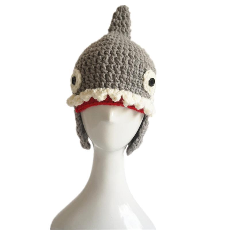 """""""Baby Shark"""" Shark Wool Hat for Children 3"""