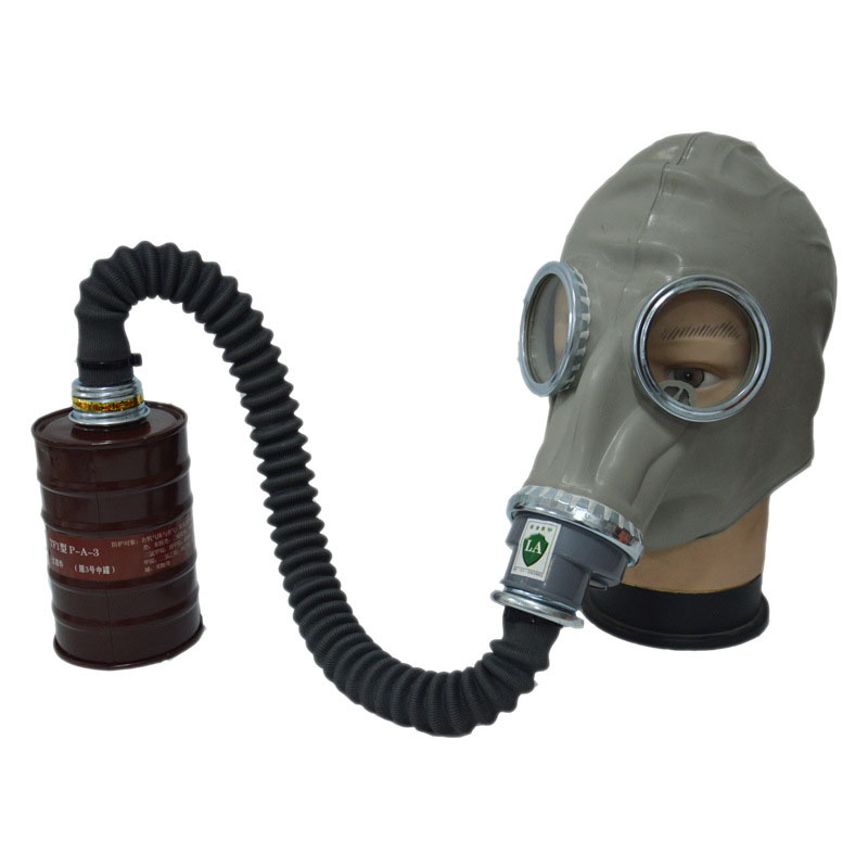 Gas mask Respirator Full Face Rubber Gas mask + 0.5 Meter Tube Safety Protective Masks Can Connection with Filter Canister <br>