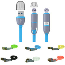 High quality Micro USB Lightning 2in1 Sync Data Charger Cable for iPhone ipad General for Android Phone Accessories