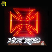 Neon Sign Hot Rod Glass Tubes Neon Bulb Signboard lighted custom lighted signs lettering LOGO neon lights for sale personalised(China)