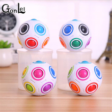 GonLeI 1pc Creative Spheric Magic Rainbow Ball Plastic Balls Puzzle Children Learning and Education Twist Fidget Cube Toys(China)