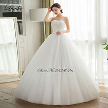 Buy Liyuke Gorgeous Satin Scoop Floor Length Lace 2017 Wedding Dress Beading Crystals Sleeveless Ball Gown Bride Dresses for $181.22 in AliExpress store