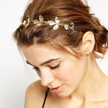 Fashion Gold Leaf Hairbands Headband Hairpieces Hairstyles Hair Jewelry Accessories for Women