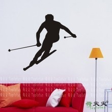Free Shipping ice-sports Sports Ski roller skating Ice Dance Skate Scooter Wall Stickers Wall Decal Home Decor