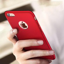 Luxury Hard Back Plastic Matte Cases For iPhone 5 For Apple iPhone 5S SE Red Case PC Full Cover For iphone 7 6 6s plus case