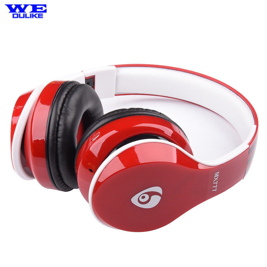 New Design MX777 Bluetooth Headphones Wireless Stereo Headset with Mic Brass Headband Support TF Card for iPhone Samsung Huawei<br><br>Aliexpress