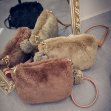 Lovely Luxury Handbags Women Bags Designer Faux  Fur Bags Small Messenger Bag for Women Crossbody Shoulder Bags