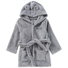 ARLONEET Kleinkind Kinder Baby Korallen fleece Solide Bademantel Baumwolle Plüsch warme Mit Kapuze Bad Robe Handtuch Pyjamas L1030(China)