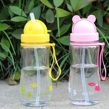 400ml Hot Creative tumble Eco-friendly PP baby cartoon water bottle children Straw Bottle Children Drinking Bottle sports bottle