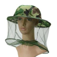 LumiParty Adult Beekeeping Hat Outdoor Camouflage Bush Cap Anti-mosquito Shawl Fishing Sunscreen Net Cap(China)