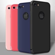 Candy Colors Case for iphone 7 Plus Cover Slim Black Soft TPU Matte Luxury Accessories Silicon Cases for iphone 6 iphone 6s plus