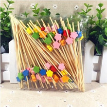 12cm disposable long  bamboo toothpick, various types, idea for party