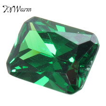 KiWarm Unheated Dazzling 9.08CT Artificial Green Sapphire 10X14MM Diamond Emerald Loose Gemstone DIY Jewelry Pendant Crafts(China)