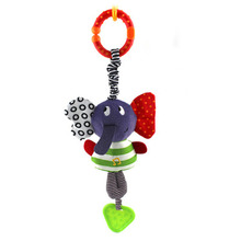 1PC Hot New Music Elephant Lathe Rattles Hang Baby Kids Dolls Educational Toys Teether