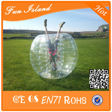 Free Shipping 1.0mm TPU 1.2m Diameter Kids Inflatable Bumper Ball / Bubble Football Sport Games