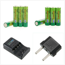 Russia hot sell! 33PCS a set! 16 PCS 900mWh 1.6V Volt AAA 3A & 16 PSC AA 2500mah AA 2A NiZn Rechargeable Battery +charger(China)