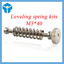 5pcs 3D printer Leveling components M3 screw Leveling spring Leveling knob suite for 3D printer free shipping