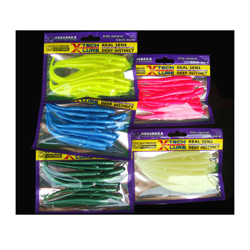 Fishing Soft Bait Lure Artificial 7cm 10cm Loach 10 Pieces Bag Single Sharp Tail Worm Real