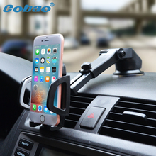 Cobao Car Mobile Phone Holder Stand Dashboard Windshield Universal 360 Adjustable Phone Car Holder for iPhone 7 6 5 4 Huawei(China)