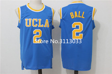 #2 Lonzo Ball Youth College Basketball Jersey UCLA Bruins Stitched S-XL for Kids Children(China)