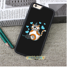 CAT AND MOUSE DROID star wars Case cover for iphone 4 4S 5 5S 5C SE 6 plus 6s plus 7 7 plus #tz209