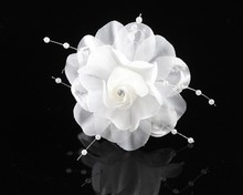 Bridal Artificial Flower Hair Clips Wedding Party Fabric Flower Hair fascinators Floral Hair Clips Travel festival ornament(China)