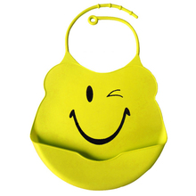 New Design Baby Bibs Waterproof Silicone Feeding Baby SalivaTowel Wholesale Newborn Cartoon Waterproof Aprons Baby Bibs YYT281(China)