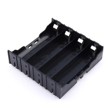 1 Piece Plastic Storage 4x18650 Li-ion Battery Case Clip Holder Box 8 Pin Contact Black (3.7V-14.8V) Battery Storage Boxes Black(China)