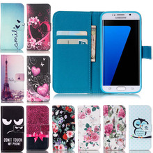 Fashion Wallet Stand Flip Leather Case Flower For Samsung Galaxy S3 S4 S5 S6 S7 edge j3 j5 j7 Prime A3 A5 2017 2016 Bag Cover