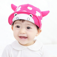Wholesale Cow 6-24 Moths Year Infant Beauty Snapback Outdoor Baby Golf Caps Boy Girl Summer Sports Net Baseball Cap(China)