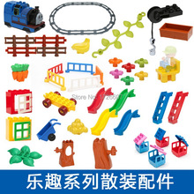 Latest Big Block Building Parts Architectural scene Accessories Duplo Educational Toys DIY Baby Toys
