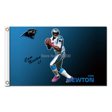 Cam Newton Flag Carolina Panthers Football Sport Team 3 X 5ft Banners Super Bowl Champions Champions Banner Polyester Banner(China)