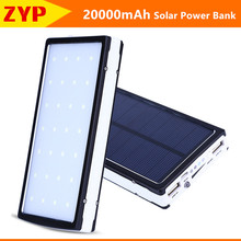 New Solar Power Bank Powerbank 20000mAh External Battery Portable Charger Bateria Externa Pack Dual USB for xiaomi Mobile phone(China)
