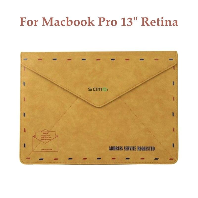 For Macbook Pro 13 Retina Sleeve Bag Vintage Envelope Design Hasp Magnetic PU Leather Sleeve Laptop Case for Macbook Pro 13.3 <br><br>Aliexpress